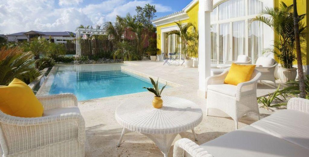 ¡Disfruta de su piscina privada!