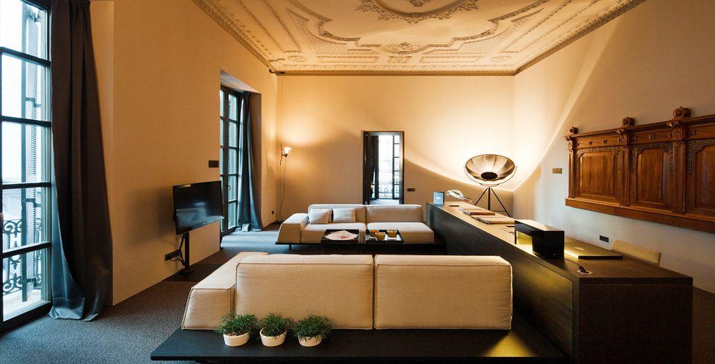 Una sala de estar aparte