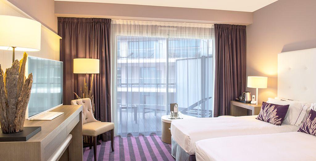 Le presentamos su moderna habitación Confort Premium