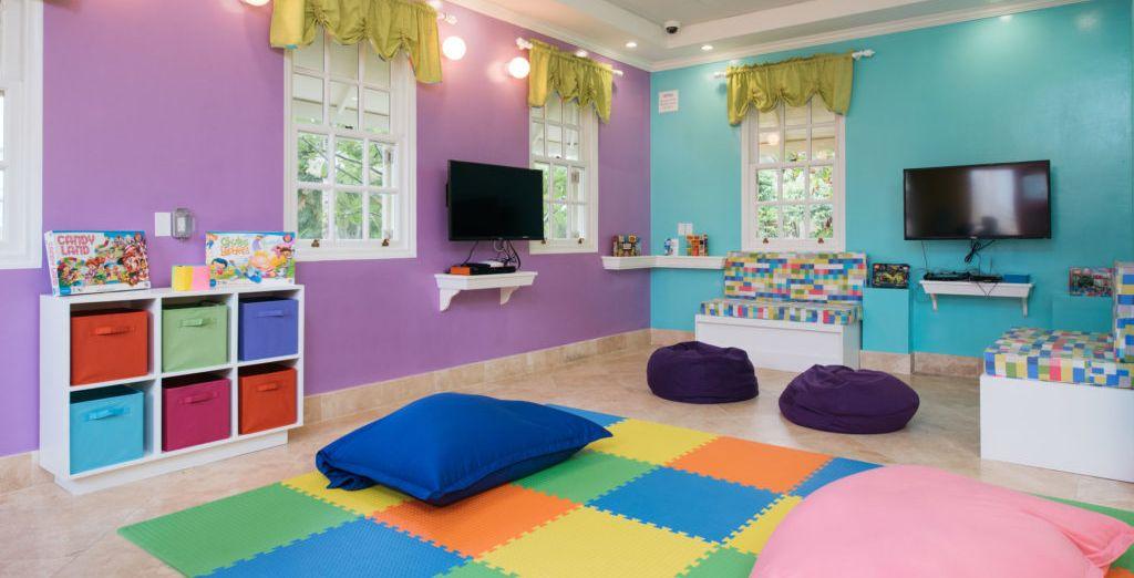Hay mucho espacio para que los niños puedan jugar
