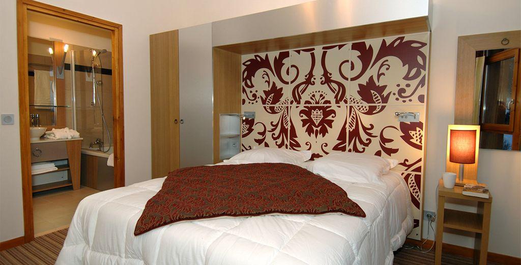 Las habitaciones están decoradas en un estilo moderno