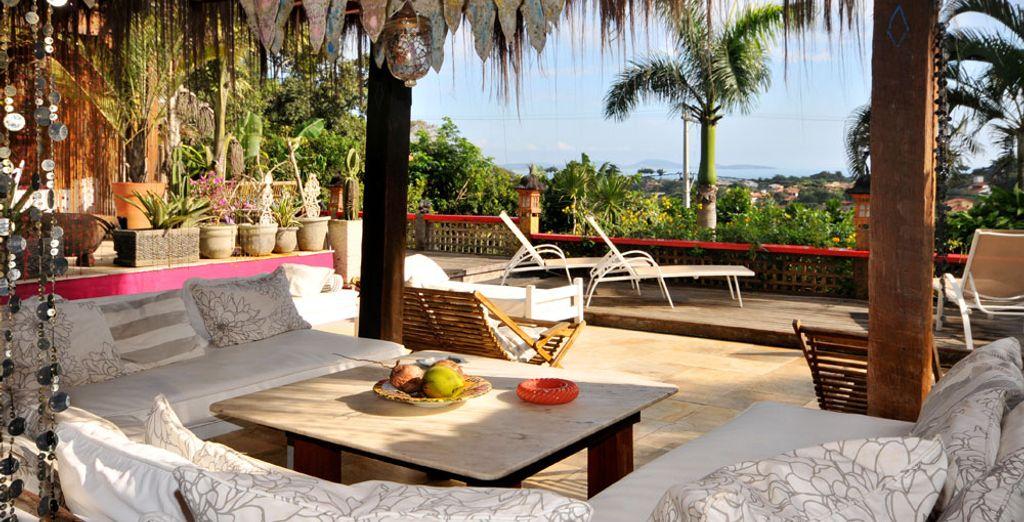 Relájate en la terraza...