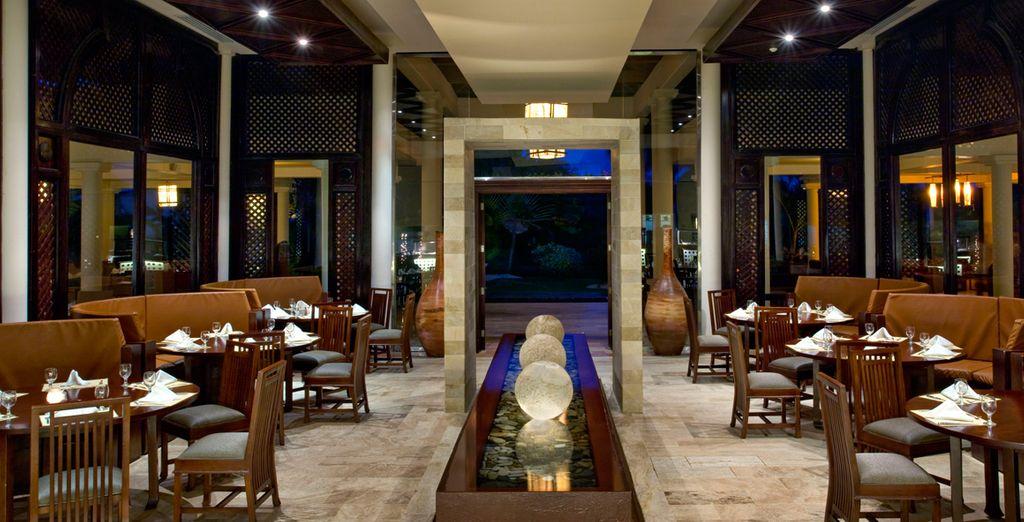Disfrute sin límites de la variada oferta de restaurantes