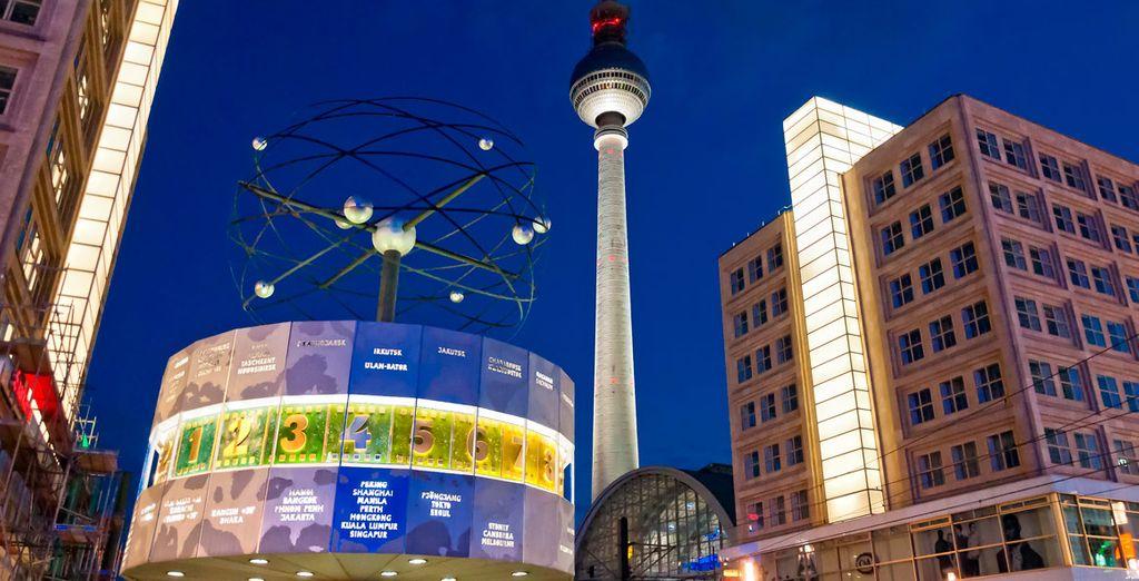 Alexanderplatz, gran plaza ubicada en el área céntrica de Berlín