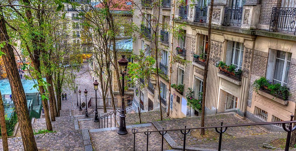 Y recorre las encantadoras calles de Montmartre