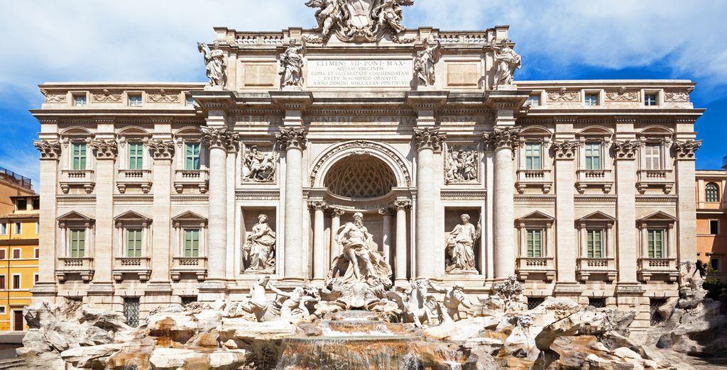 Pida un deseo en la Fontana di Trevi