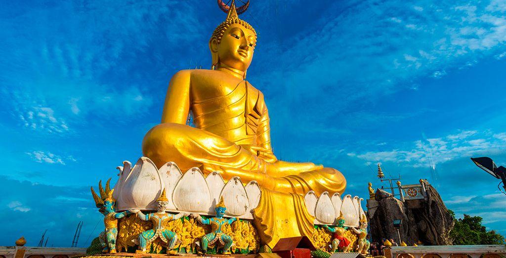 Podrás contemplar el Gran Buda de Oro