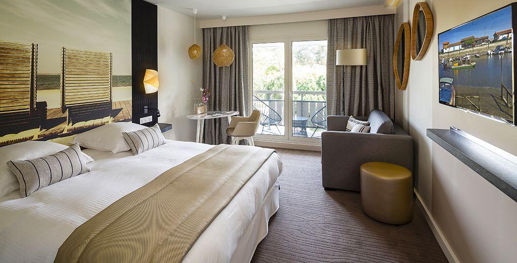 Descansa cómodamente en tu habitación Premium
