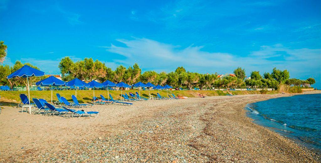 Una playa privada a su alcance