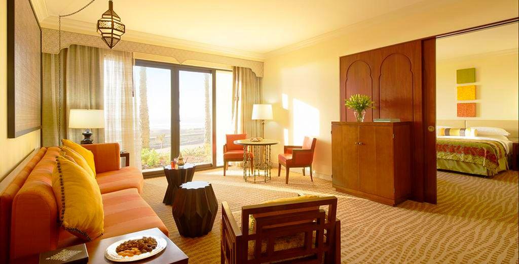 ...o en una Suite con Vistas al océano, a tu elección