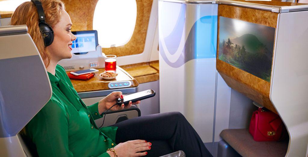 El servicio de entretenimiento a bordo de Emirates ha sido reconocido en numerosos premios internacionales como uno de los mejores del mundo