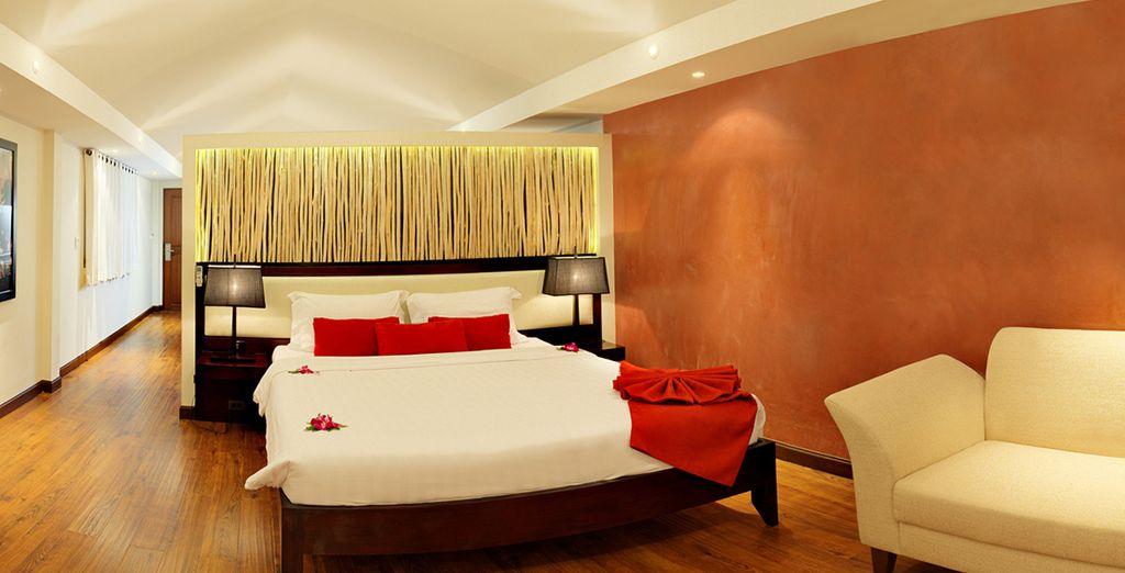 Suites amplias y decoradas con muebles modernos