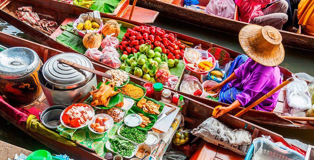 El mercado flotante de Damnoen Saduak