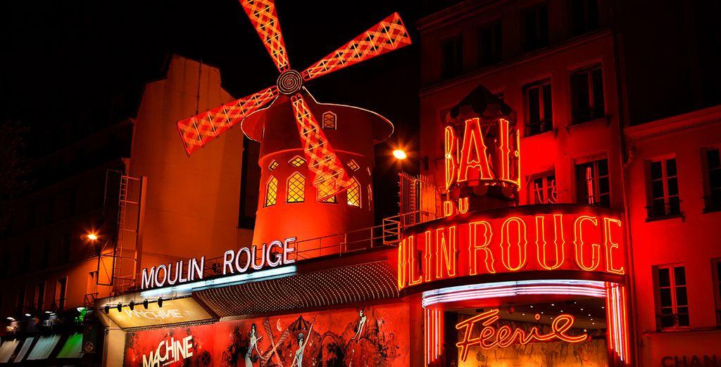 A escasa distancia encontrarás el conocido Moulin Rouge...