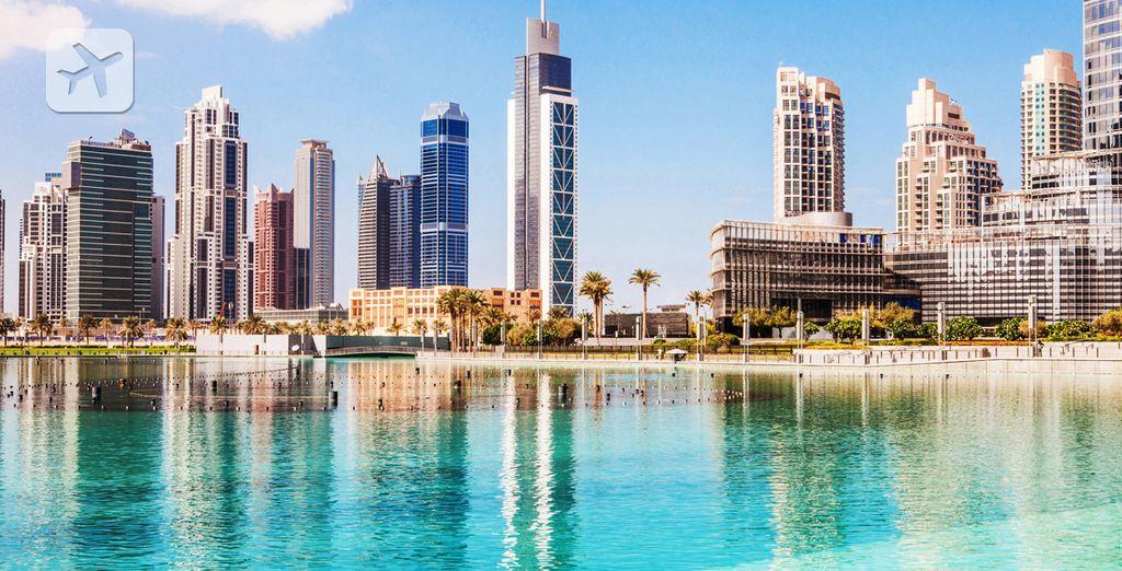 El skyline de la cosmopolita Dubái