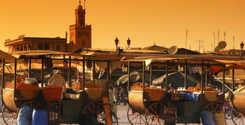 Descubra el encanto de sus comerciantes en la plaza Jemaa El-Fna