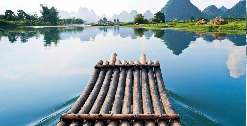 Guilin se encuentra situada en la orilla del río Li
