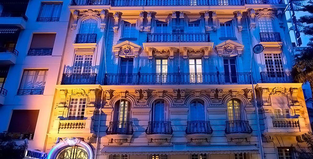 ... que se encuentra en el Barrio de los músicos de Niza