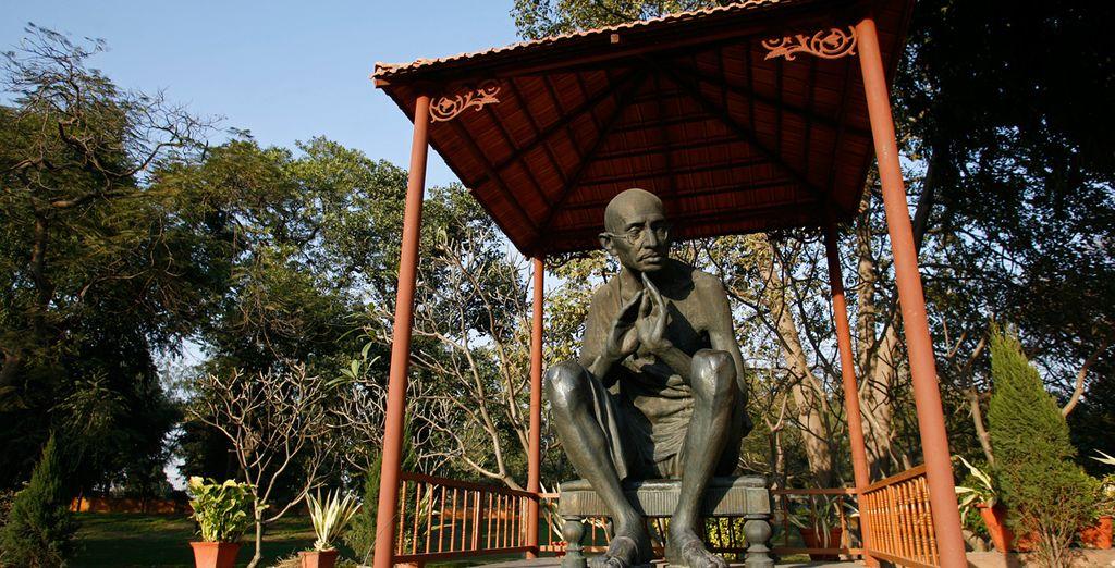 ... donde fue incinerado Gandhi