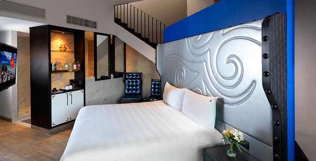 ¡Bienvenido a tu habitación Deluxe Platinum Sky Terrace!