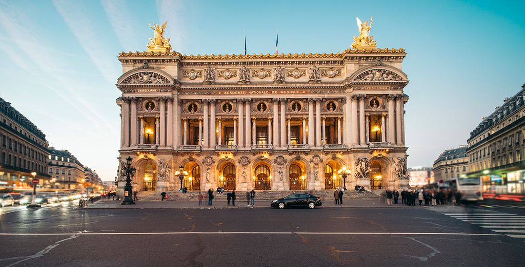... o la prestigiosa Opera Garnier