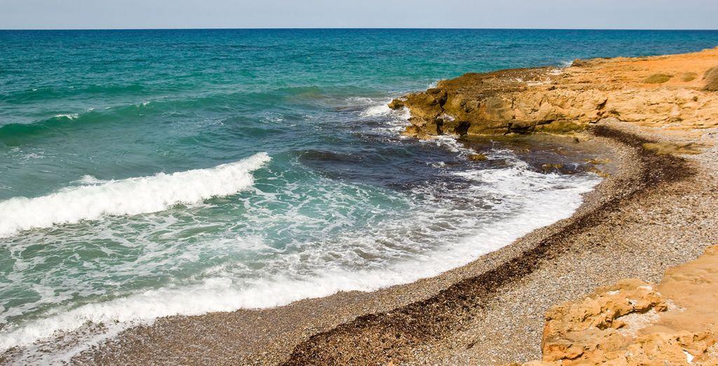 Disfrute de las playas del lugar