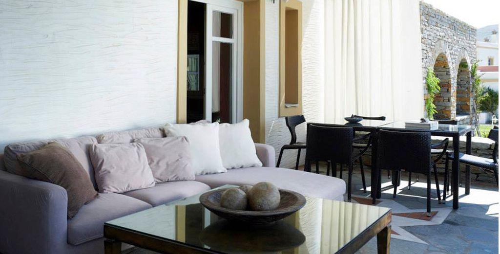 Las Suites cuentan con una terraza propia