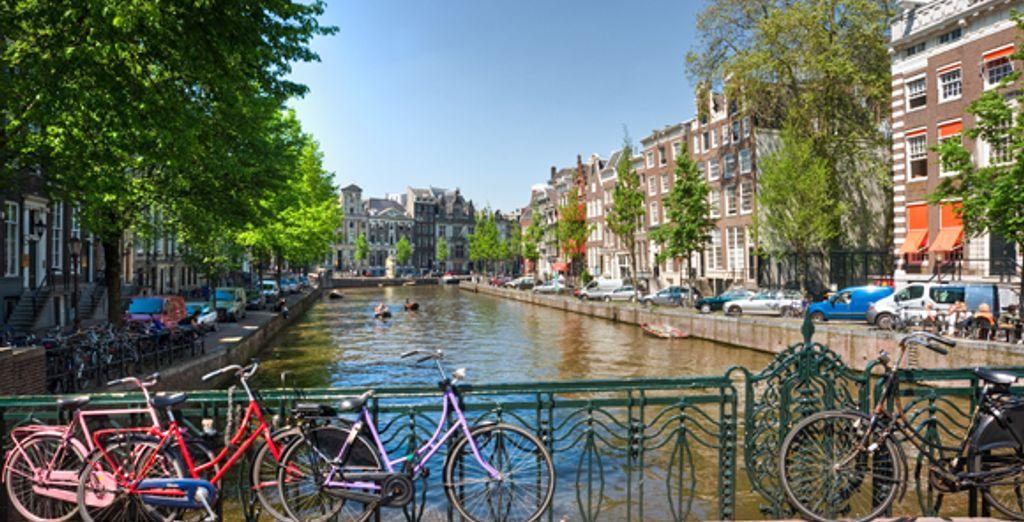 Disfrute de las magníficas vistas de la ciudad mientras va en bicicleta