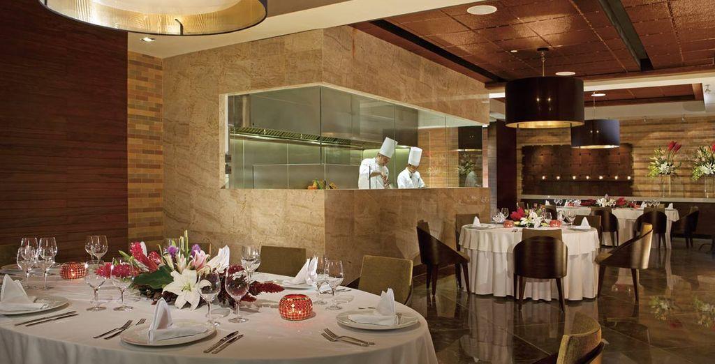 Pruebe la cocina de fusión asiática, italiana, mexicana, mediterránea...