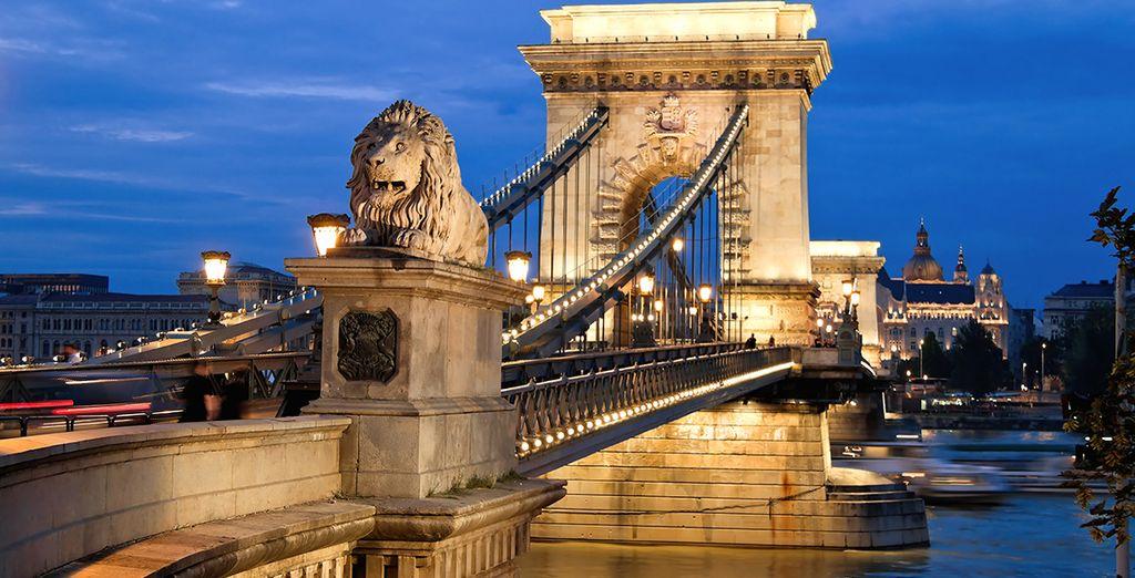 Cautívese con las maravillosas vistas desde el puente de Budapest