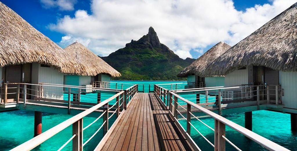 Acceso a las villas del Meridien Bora Bora