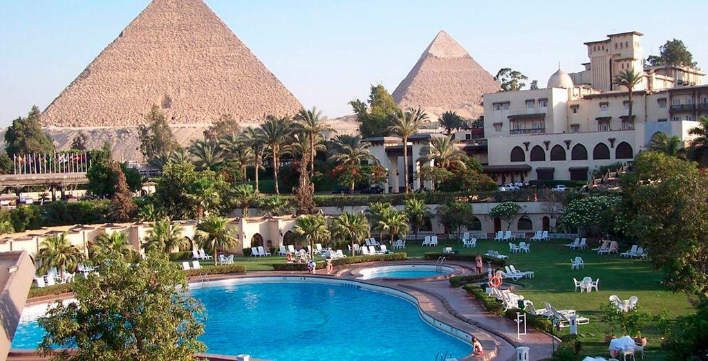 Impresionantes vistas desde el Hotel Mena House