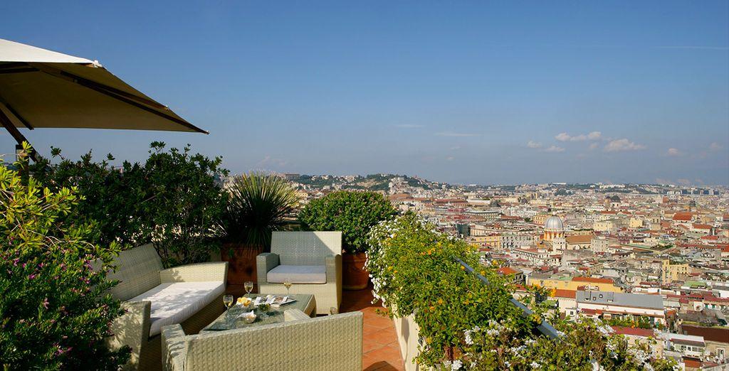 Una terraza con unas vistas maravillosas