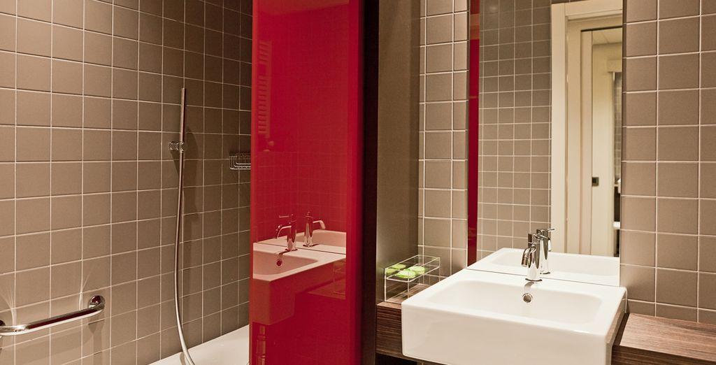 Perfectamente equipada y con baño moderno en la misma