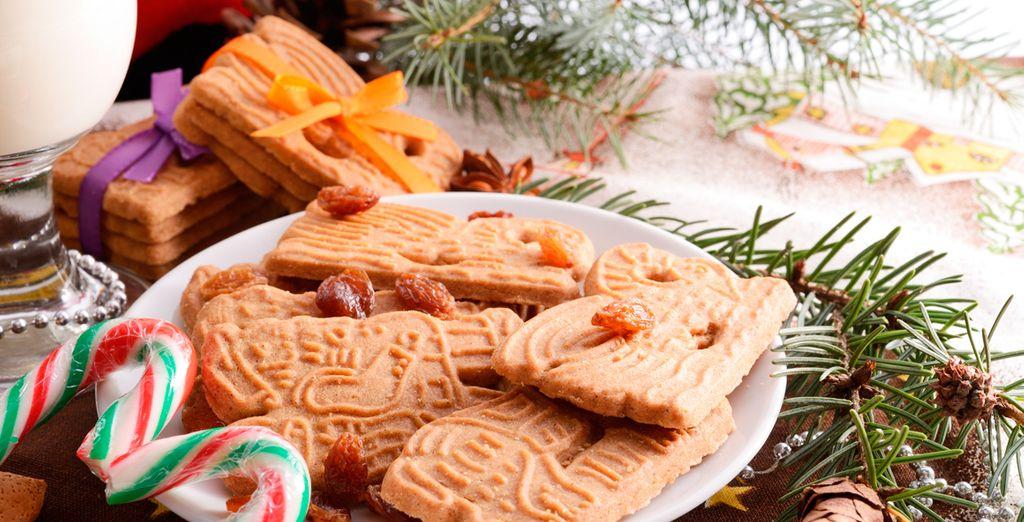 Disfrute de las deliciosas y tradicionales speculaas de Navidad