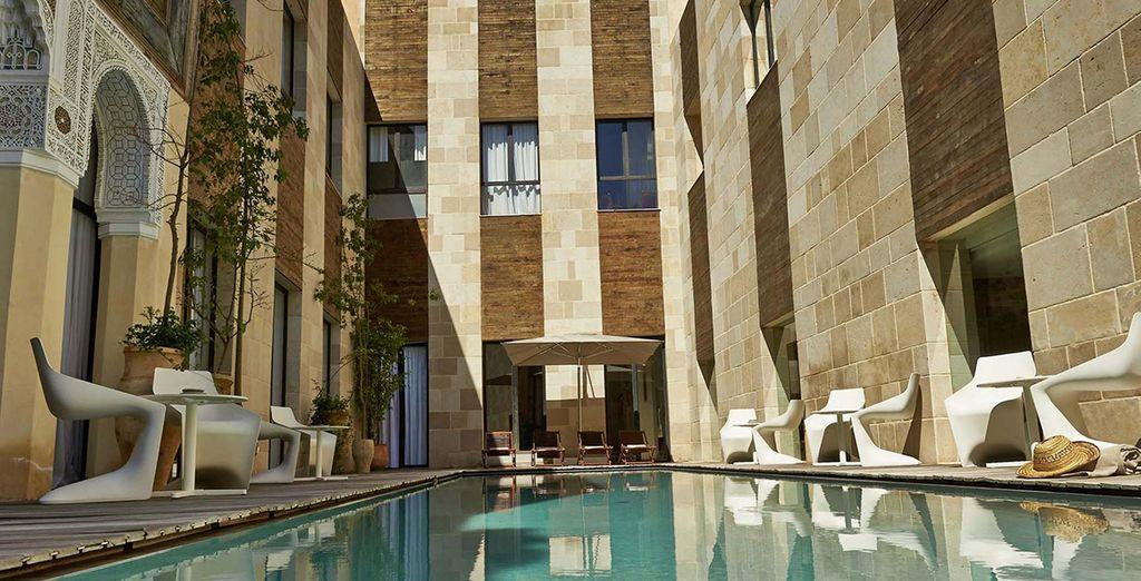 Una piscina que respira tranquilidad
