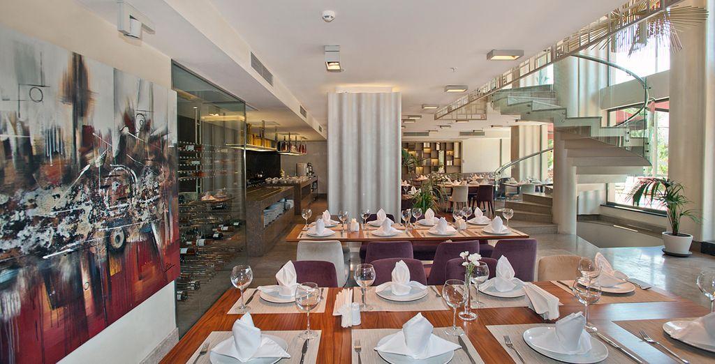 El restaurante Park ofrece cocina tradicional turca...