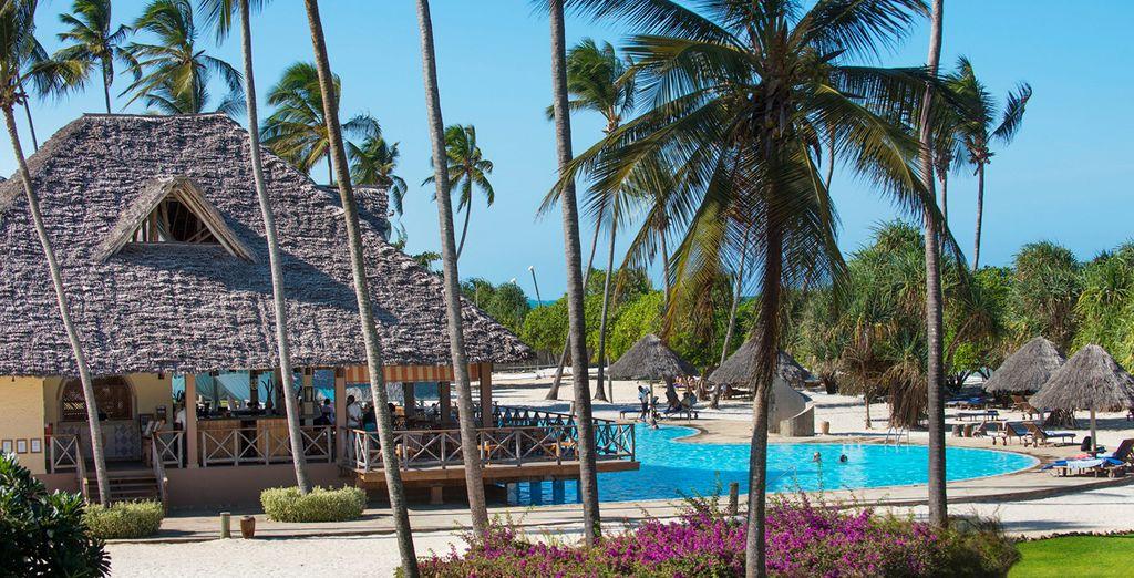 Villas que conforman un lujoso resort