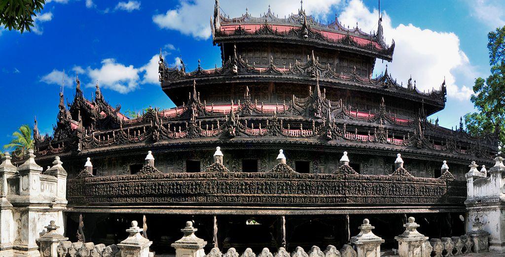 El Monasterio Shwenandaw, un destino que debe visitar