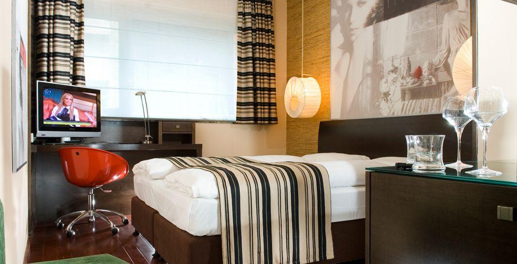 El descanso perfecto en su confortable habitación