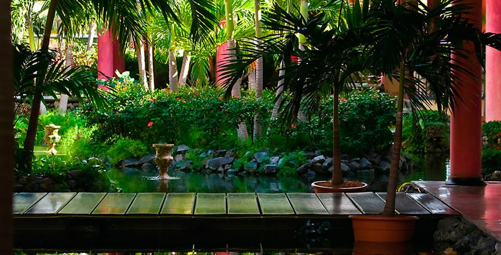 Rodeado de una sorprendente vegetación tropical