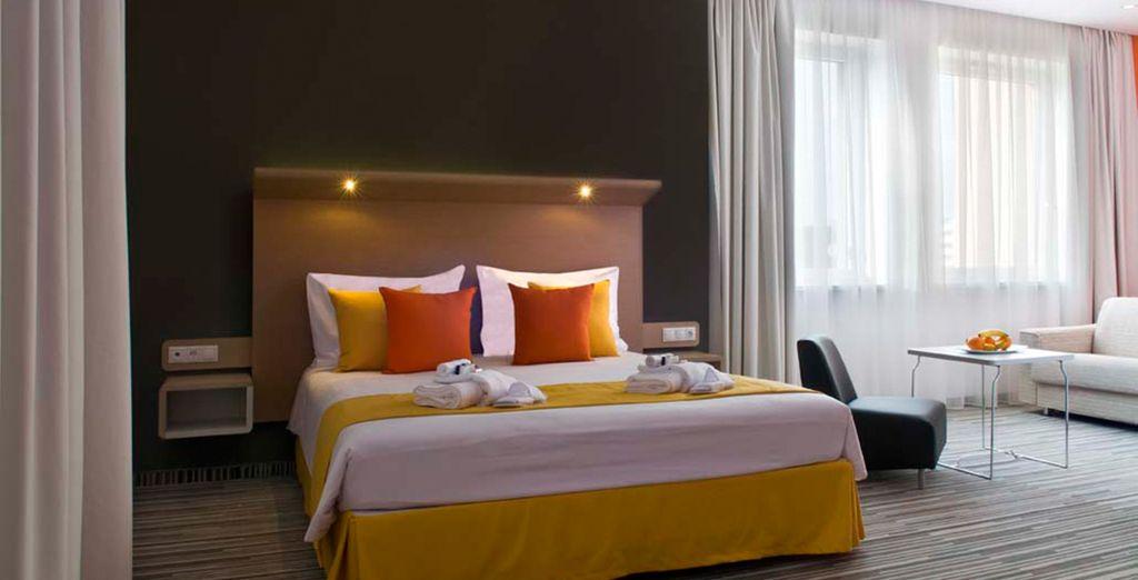 ... perfectamente equipada para una estancia cómoda y amplia