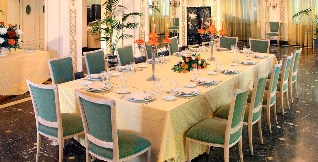 El restaurante está especializado en cocina italiana tradicional