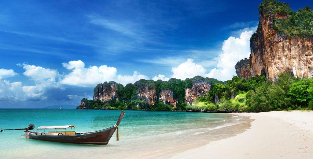 Relájese en las paradisíacas playas de Krabi