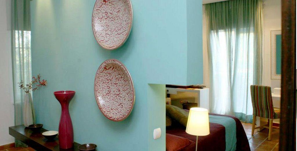 Detalles de la decoración en las habitaciones
