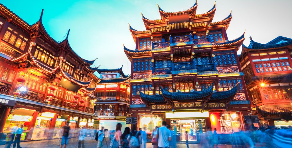 Acérquese al YuYuan Garden de Shanghai