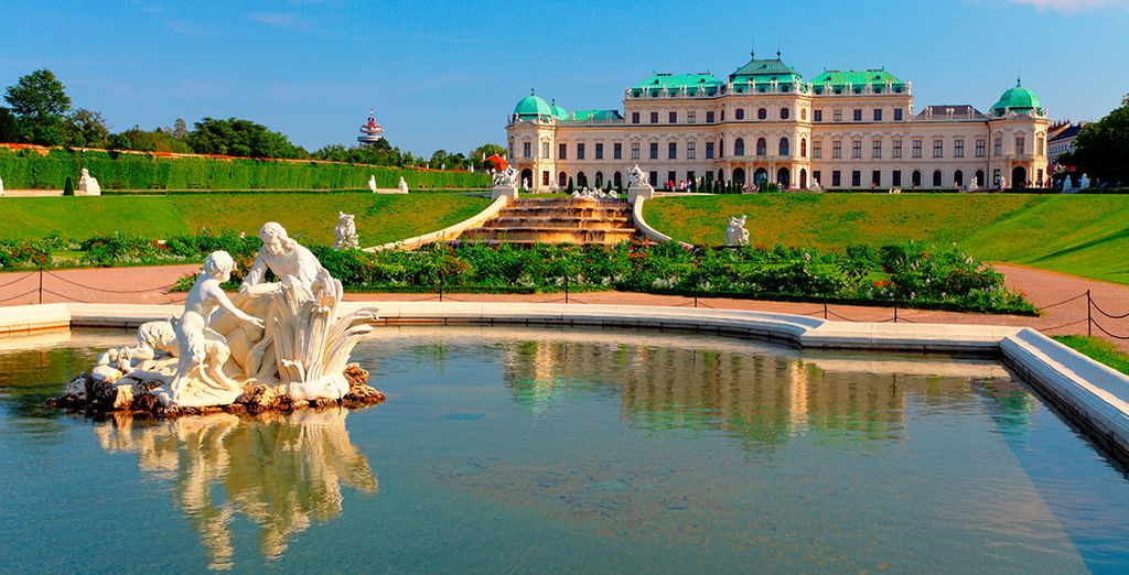 El famoso palacio de Belvedere