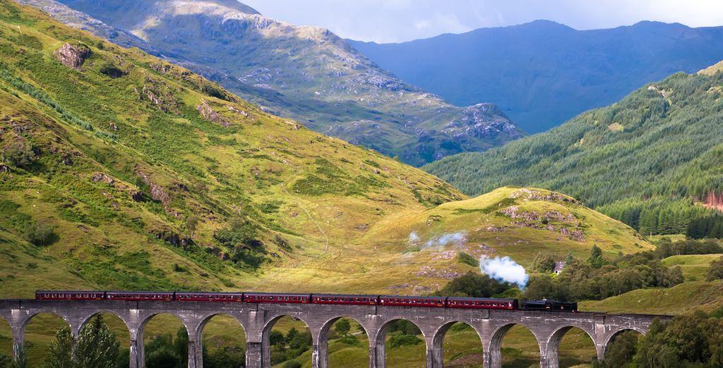 El tren de vapor de Jacobite en Mallaig, una de las mayores atracciones del lugar