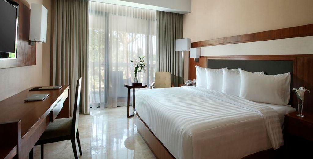 Descanase en su habitación en Yogyakarta