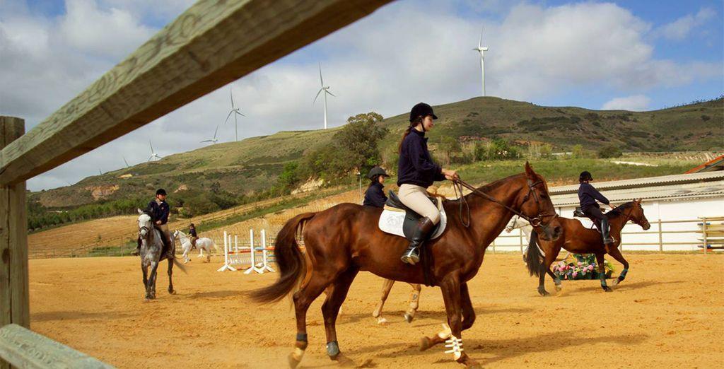 Un tranquilo paseo a caballo